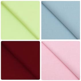 Kundan Sulz Gwalior Men's Executive Fancy Pure Cotton Linen Blended Formal Shirt Fabric Combo Set ( Pack of 4 Shirt Piece for Men )
