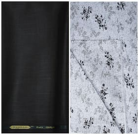 Kundan Sulz Gwalior Men's Executive Pure Cotton Print Shirt & Fancy Trouser Fabric Combo Set