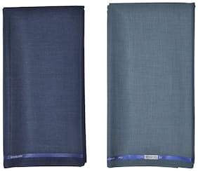 Kundan Sulz Gwalior Men's Executive Saffari Fabric Combo Set- Pack of 2 ( 2.80 m Each )