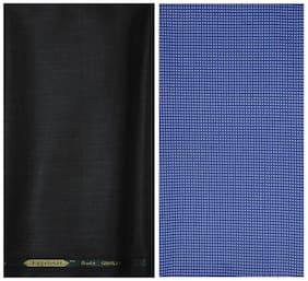 Kundan Sulz Gwalior Men's Executive Pure Cotton  Shirt Piece & Fancy  Formal Trouser Fabric Combo Set