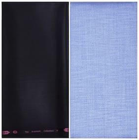 Kundan Sulz Gwalior Men's Executive Linen Look Shirt & Fancy Trouser Fabric Combo Set ( 1 Pant and Shirt Piece for Men )