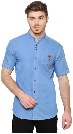 Kuons Avenue Men Slim fit Casual shirt - Blue