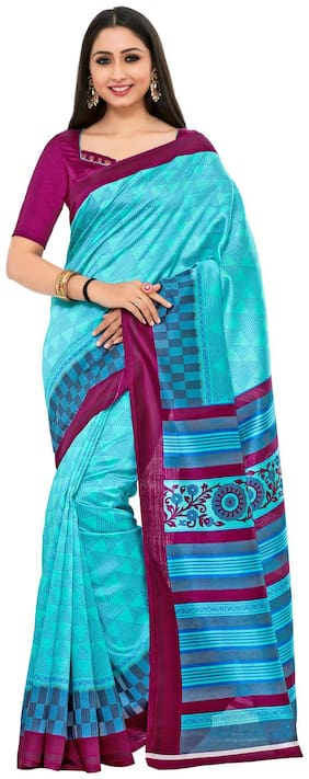 Kupinda Mysore Style Art Silk saree Color:Turquoise (4229-TK-03-AND-MEJ)