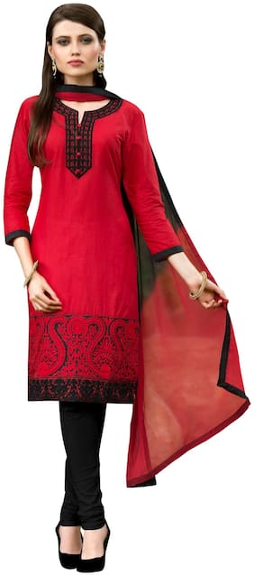Women Cotton Dress Material ,Pack Of Pack of 1