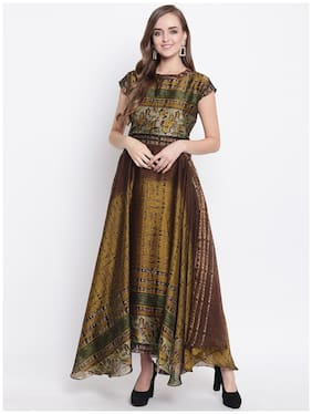 Women Printed Festive Gown
