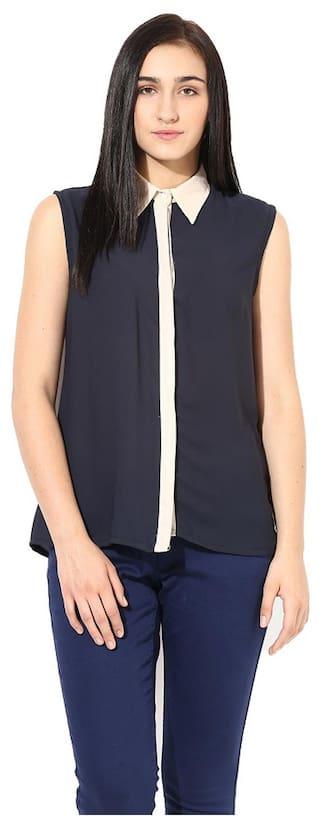 La Firangi Blue Georgette Shirt