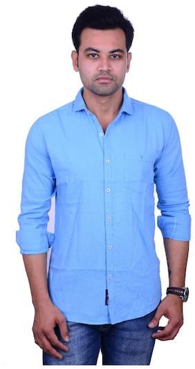 La Milano Men Regular fit Casual shirt - Blue