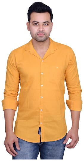 La Milano Men Slim fit Casual shirt - Yellow