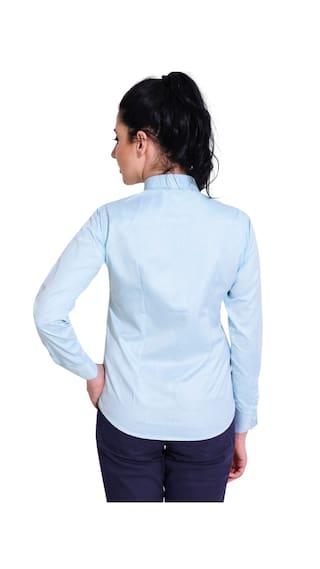 Ladies Mode Formal Turquoise T59908LD Plain Shirt La wfxPFzqx