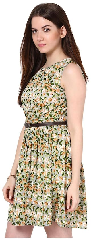 La a Light Belt Zoire Dress Green amp; Casual Free Polyester Buy Get rrgnBWq7