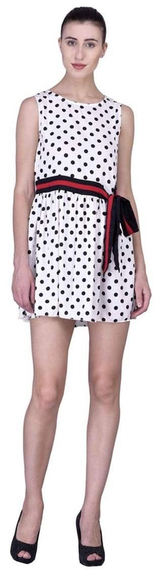 Dress Polka Womens Laabha Thigh Dot Mid Pretty BYwdwq