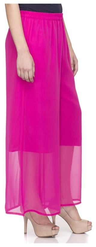 Women flaired plazzo lycra Laabha cotton pink SXISdq