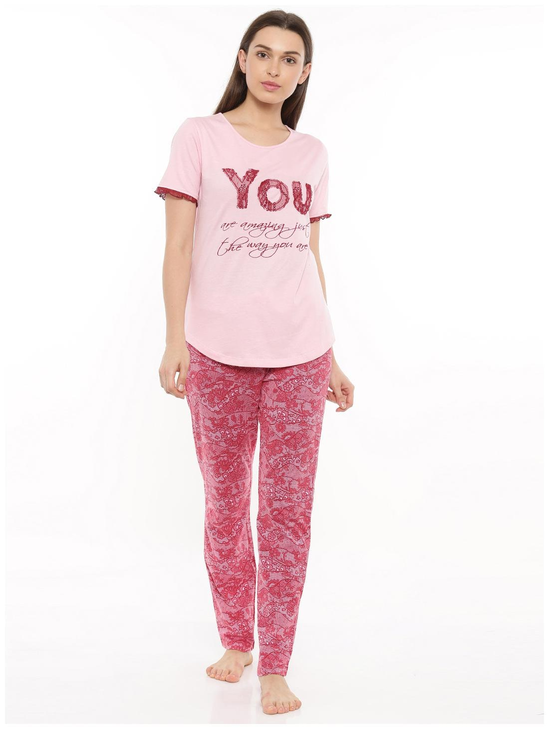 https   assetscdn1.paytm.com images catalog product . Mystere Paris Cotton  Night Gown Printed Nightwear Pink ... 2291d0722