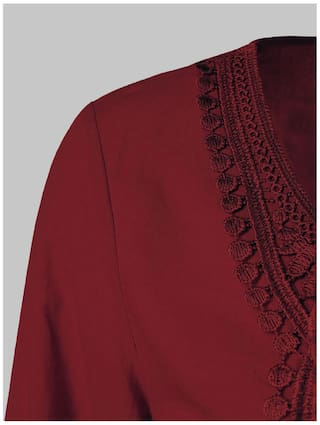 Splicing Long Blouse Lace Sleeve Peasant H1nxq4