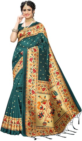 Artificial Silk Universal Saree ,Pack Of 1
