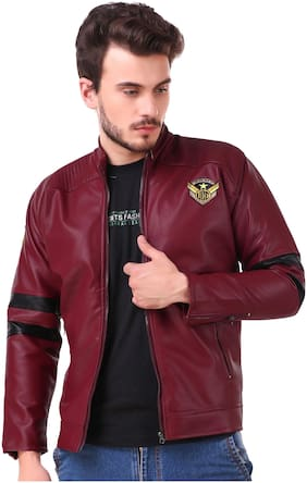 Lafantar Men Leather Jacket - Maroon