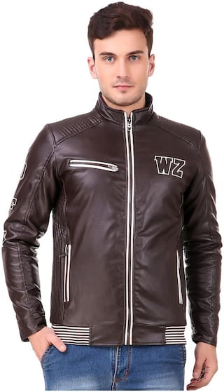 77a39f7d74 Buy Lafantar Men Leather Jacket - Brown Online at Low Prices in ...