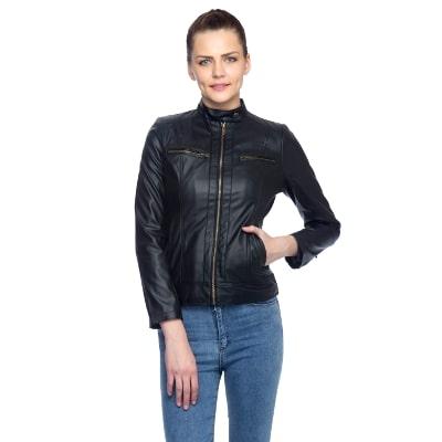 Lambency Full Sleeves Black Women Winter & Seasonal Jackets