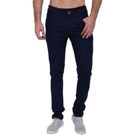 Landloper men's stretchable slim fit dark blue denim jeans