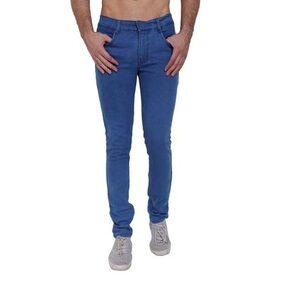 Landloper men's stretchable slim fit monkey wash light blue denim jeans