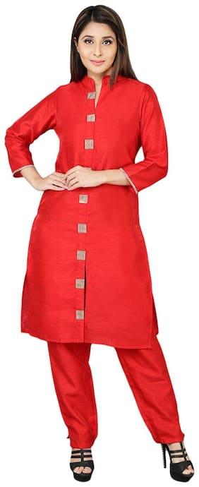 Larwa Designer Festive Kurti & Pant Set With Inner