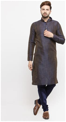 Men Silk Kurta And Churidar Set ,Pack Of Pack Of 1