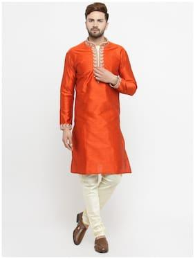 Larwa Men's Wedding;Ceremony;Party wear embroidery Kurta Pyjama Set