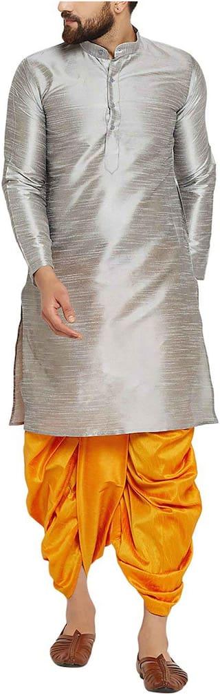 Larwa Men's Festive Ceremony Kurta - dhoti Set