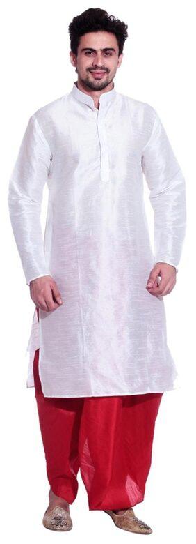 Larwa Solid Men's Festive Dhoti Kurta Set