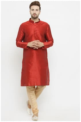 Larwa solid men's kurta pyjama set special for festive;wedding;ceremony