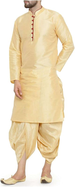 Larwa solid men's kurta dhoti set special for festive;wedding;ceremony