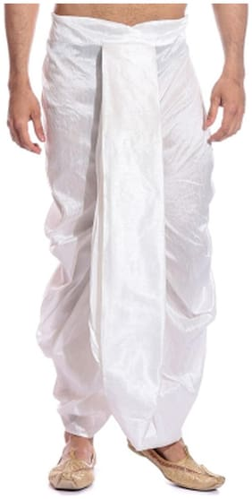Men Blended Solid Dhoti