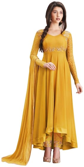 Latest Faux Georgette Party Wear Anarkali Salwar Kameez
