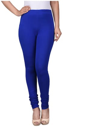 Lavennder Polyester Leggings - Blue
