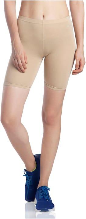 Lavos Women Solid Regular shorts - Beige
