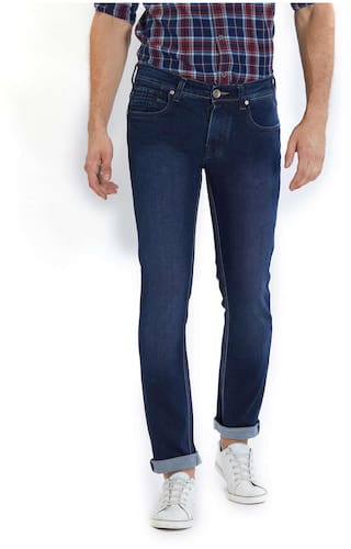 726d7a93 Buy Lawman Pg3 Men Mid Rise Slim Fit ( Slim Fit ) Jeans - Blue ...