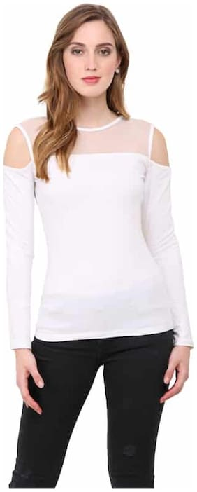 Le Bourgeois Women Solid Regular top - White