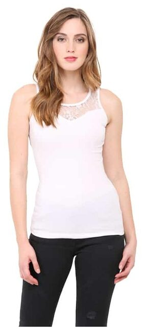 Le Bourgeois Women Cotton Solid - Regular Top White