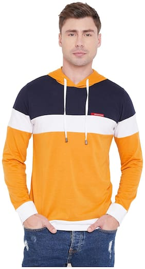 Le Bourgeois Men Multi Hooded Hoodie