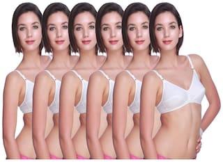Leading Lady white basic bra pack of six