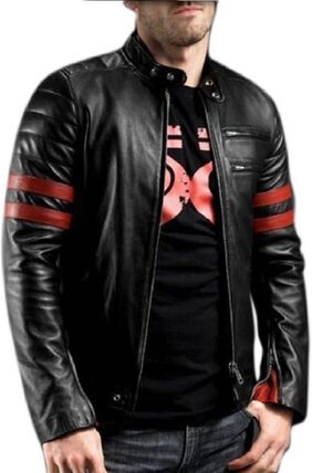 Leather Retail Faux Leather wolverine Biker Jacket For Man