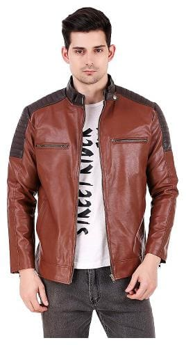 Leather Retail Men Leather Brown Jacket