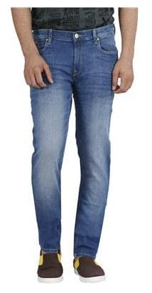 cdb3a2f8 Buy Lee Men Mid Rise Skinny Fit ( Low Bruce ) Jeans - Blue Online at ...