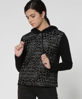 Lee Cooper Women Printed Sweatshirt - Black