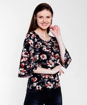 Lee Cooper Women Blended Floral - Regular Top Black