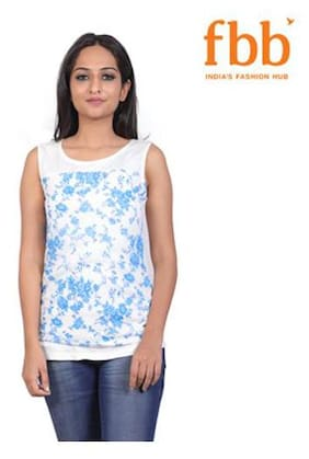 Lee Cooper Floral Print Womens Blue Top