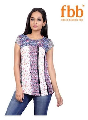 Lee Cooper Floral Print Womens White Top