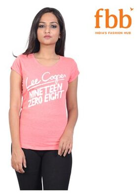 Lee Cooper Graphic Womens Pink Tops & Tunics