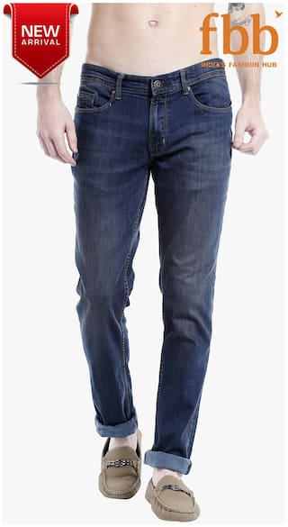 ccdfaa8c Buy Lee Cooper Men's Low Rise Slim Fit Jeans - Blue Online at Low ...