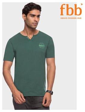 Lee Cooper printed Mens Green T-shirt